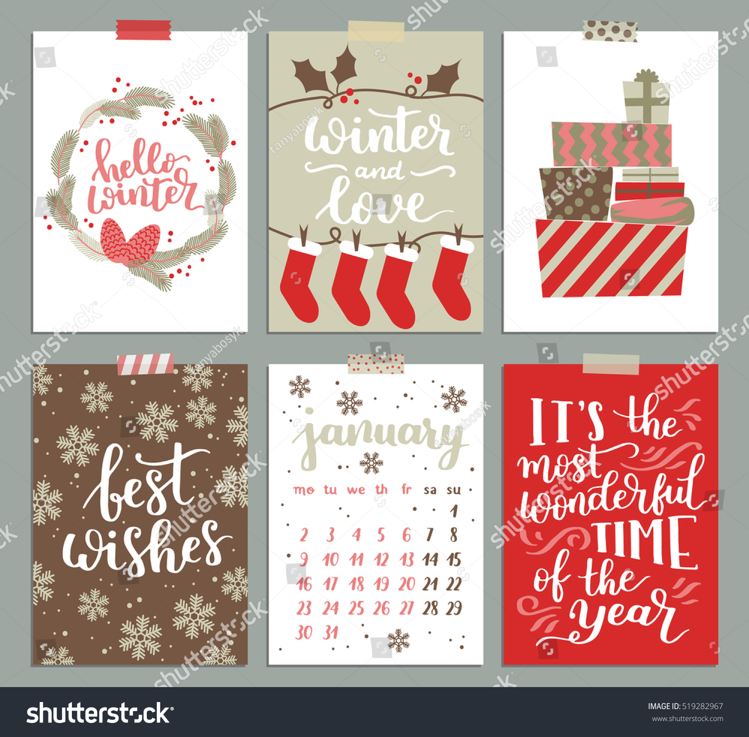 vector collection christmas poster templates christmas stock vector collection of christmas poster templates christmas set of greeting cards bright colors