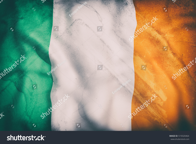 3d rendering old ireland flag waving stock illustration 519320464