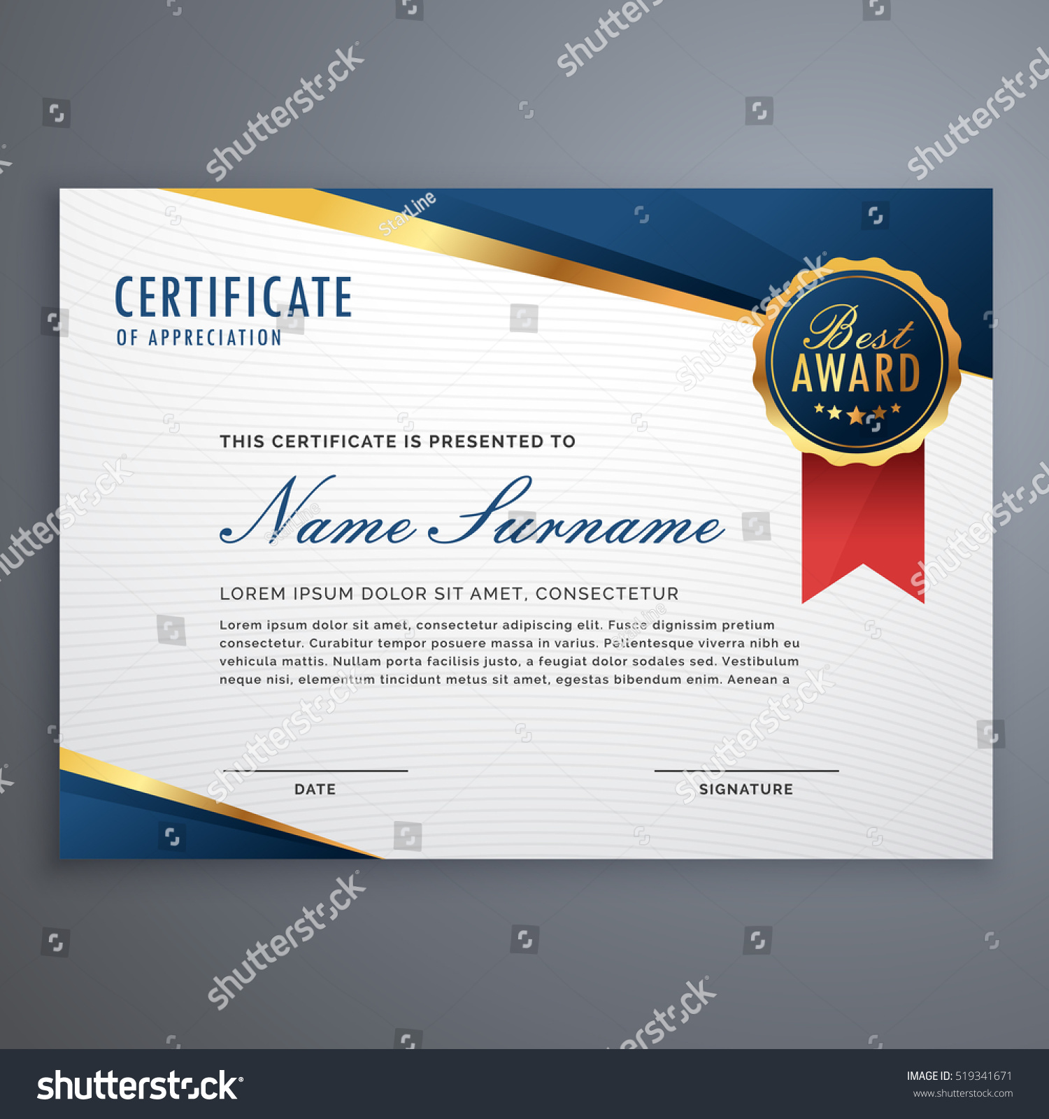 outstanding achievement certificate template
