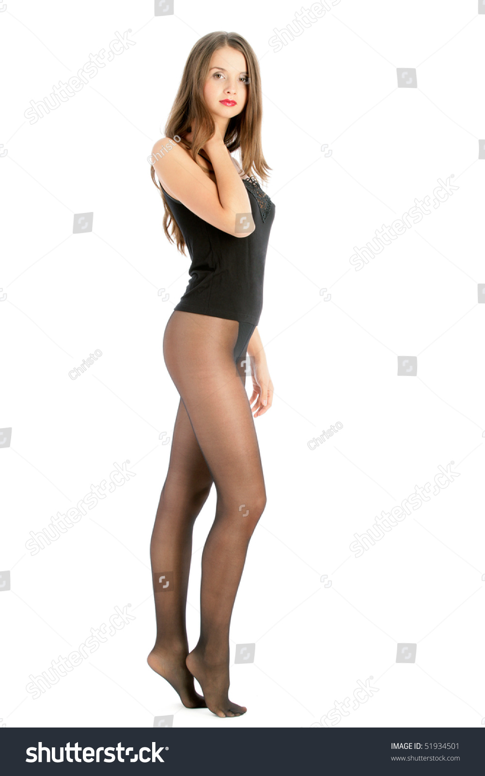Female in pantyhose
