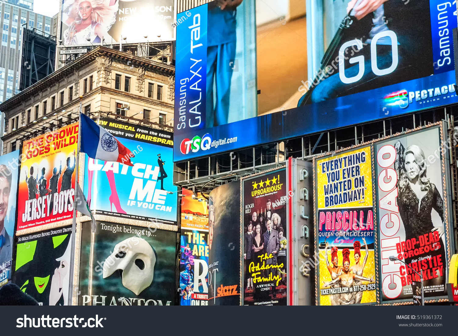 New york april 9 collage neon stock photo 519361372 shutterstock new york april 9 collage of neon lights street signs and advertisements at biocorpaavc Choice Image