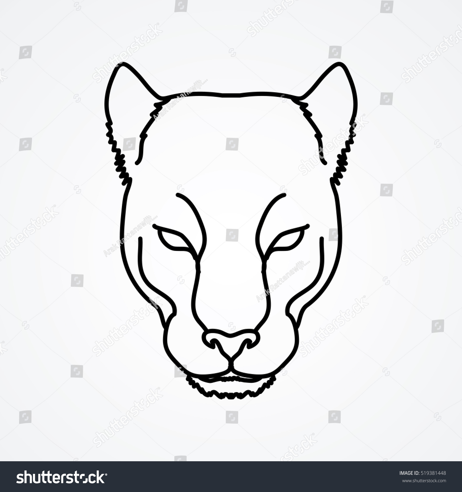 panther drawing outline - photo #26