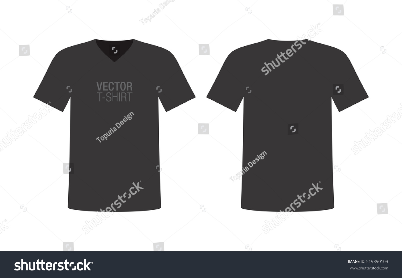 c88070e681f Royalty-free Vector V-neck T-shirt mockup. Men s…  519390109 Stock ...