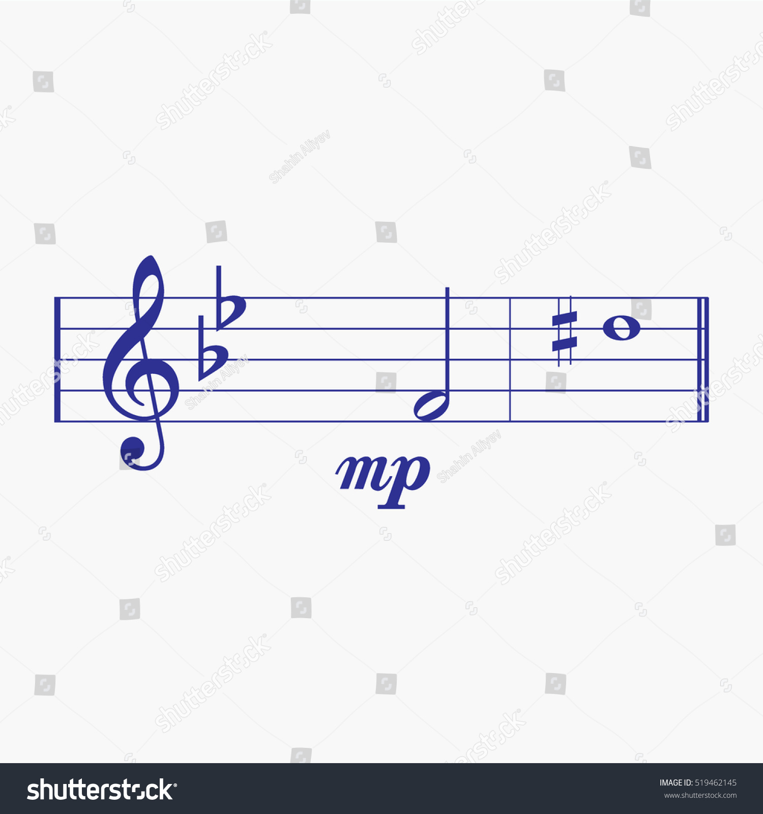 Treble clef music notes quarter rest stock vector 519462145 treble clef music notes quarter rest flat note element music notes icon and symbol biocorpaavc Gallery