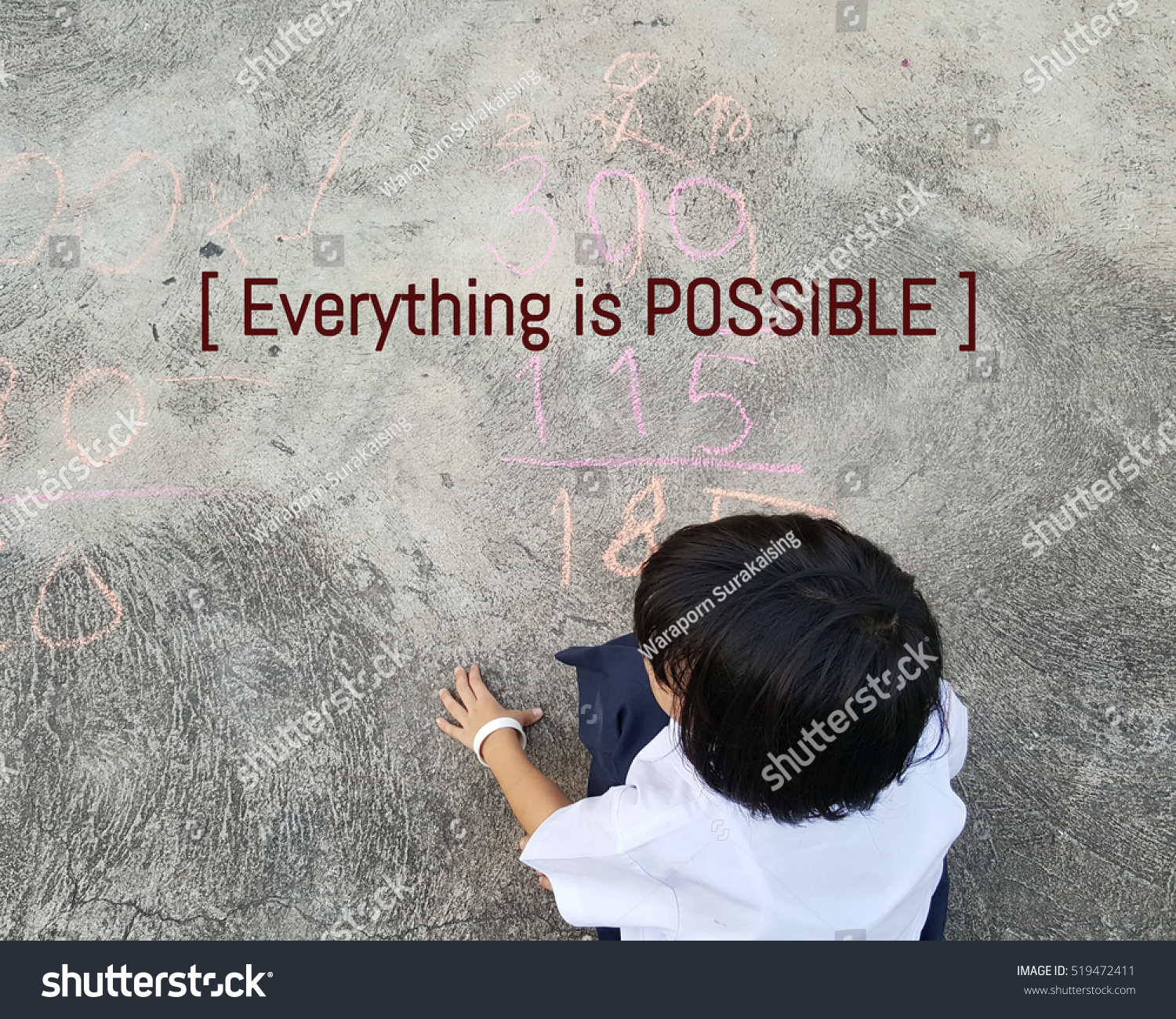Inspirational Quote, Everything Is Possible Quote On Blurred Background