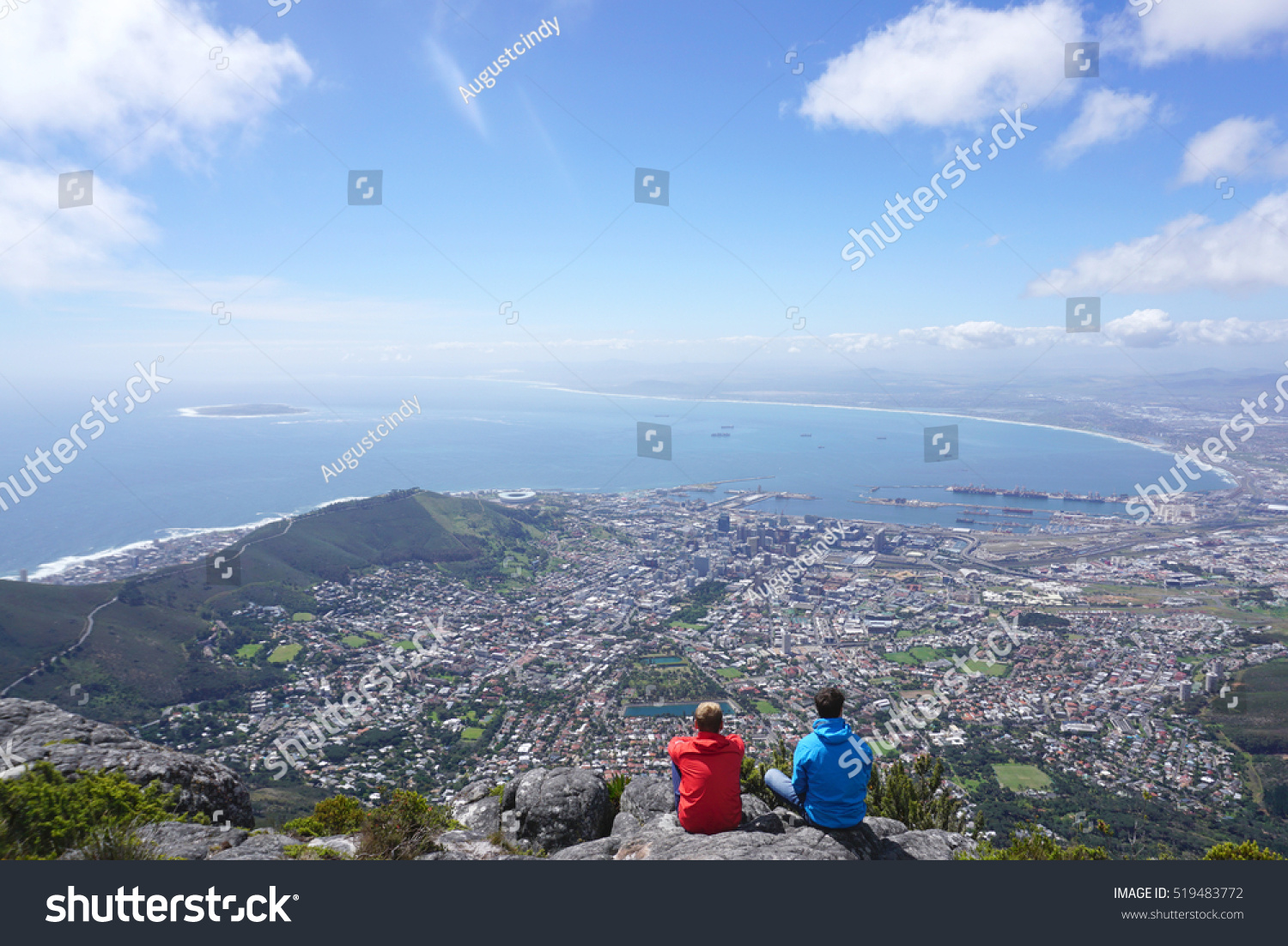 Scenic landscape cape town table mountain stock photo for Landscaping rocks cape town