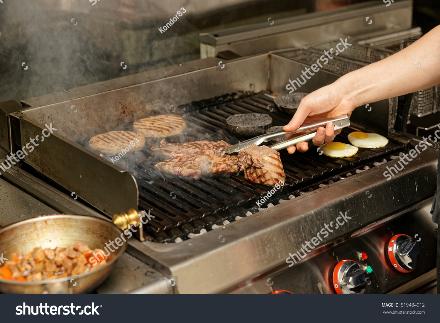 Real Kitchen Bar Grill Restaurant Operation Stock Photo 519484912 ...