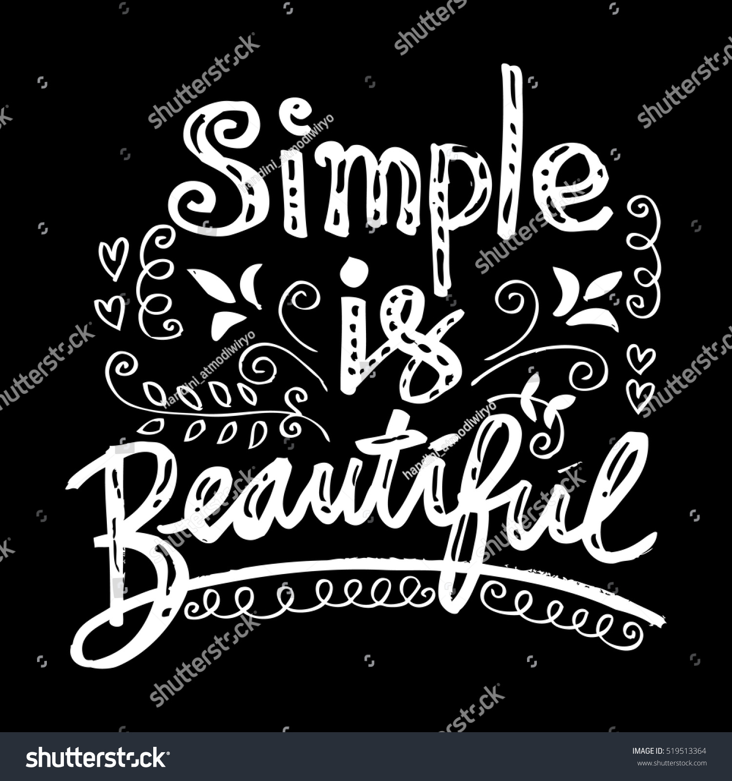 Woman quote simple beautiful hand lettered stock vector