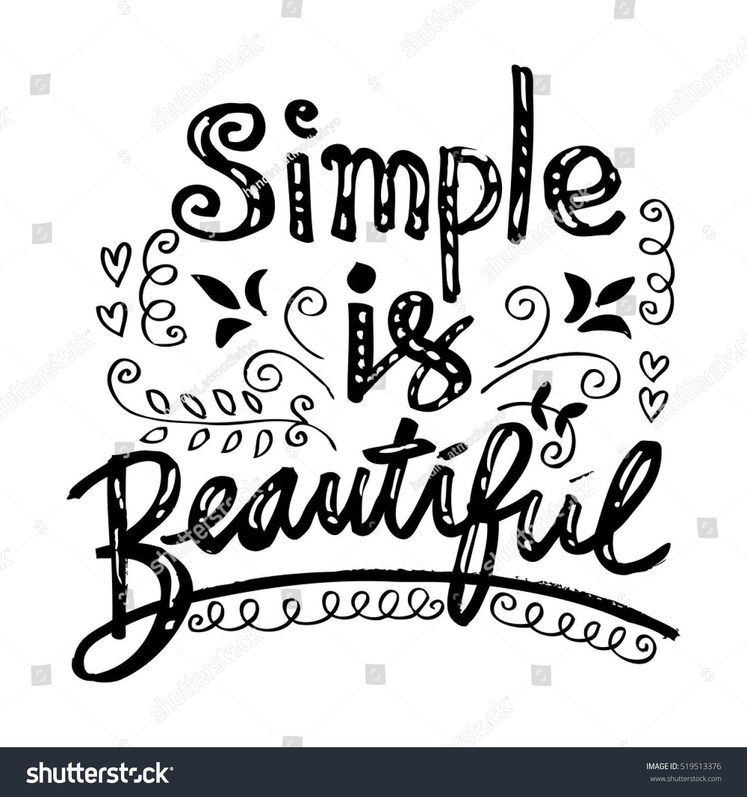 Beautiful Women Quotes Woman Quote Simple Beautiful Hand Lettered Stock Vector 519513376