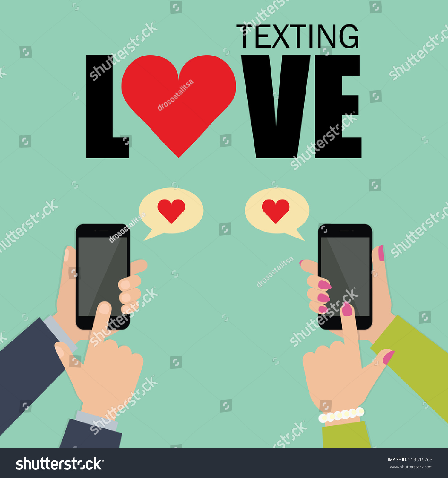 Love texting online dating vector background stock vector 519516763 love texting online dating vector background two people texting love messages to each other buycottarizona Image collections