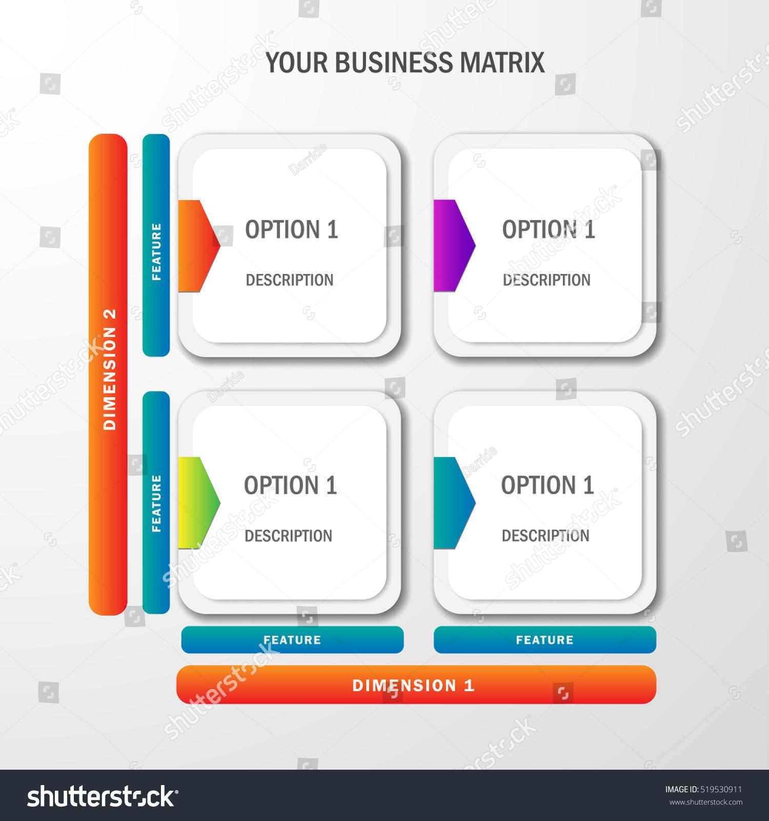 Vector Template Business Matrix Portfolio Options Stock