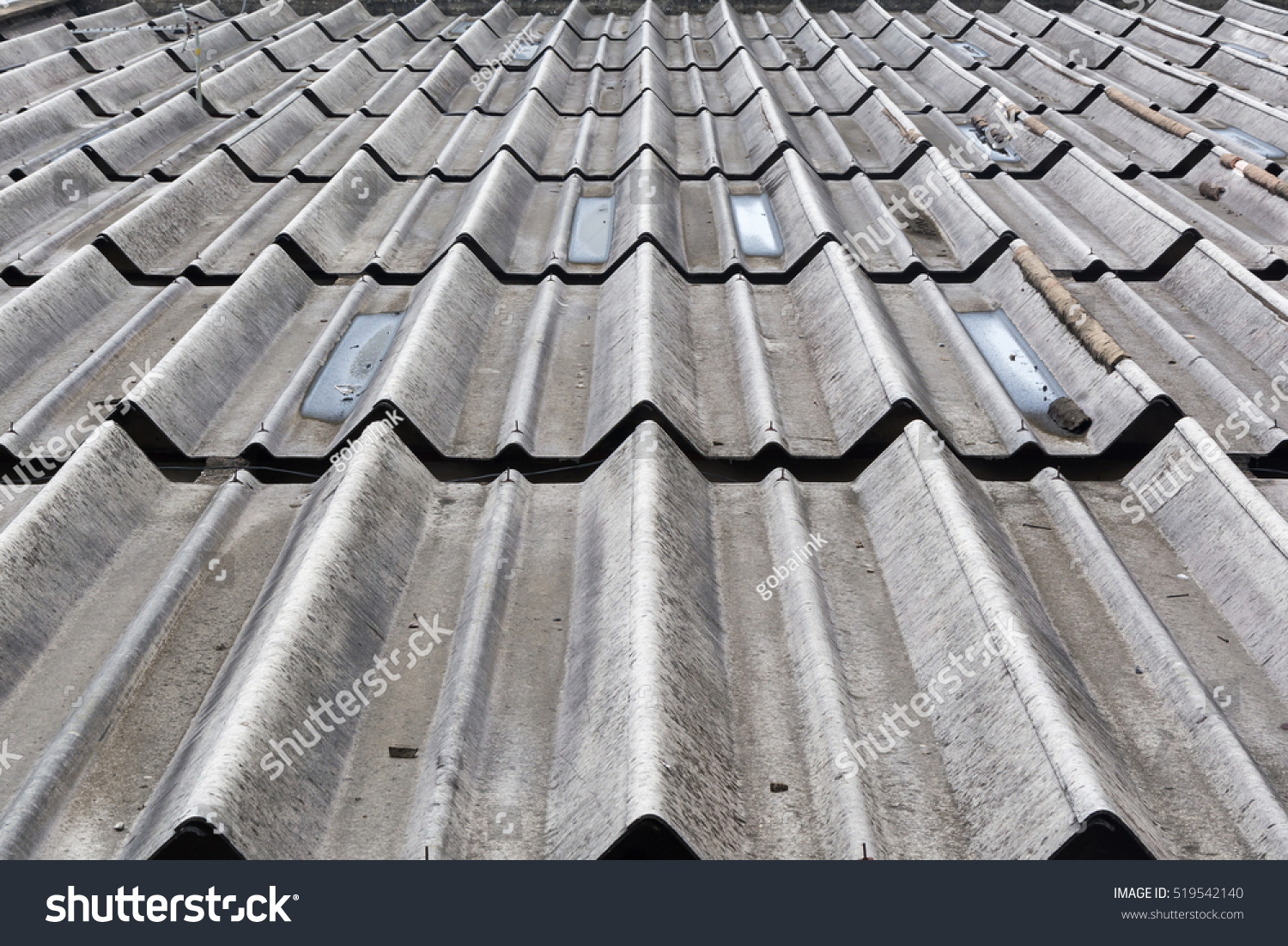Pattern roof tile stock photo 519542140 shutterstock for Roof tile patterns
