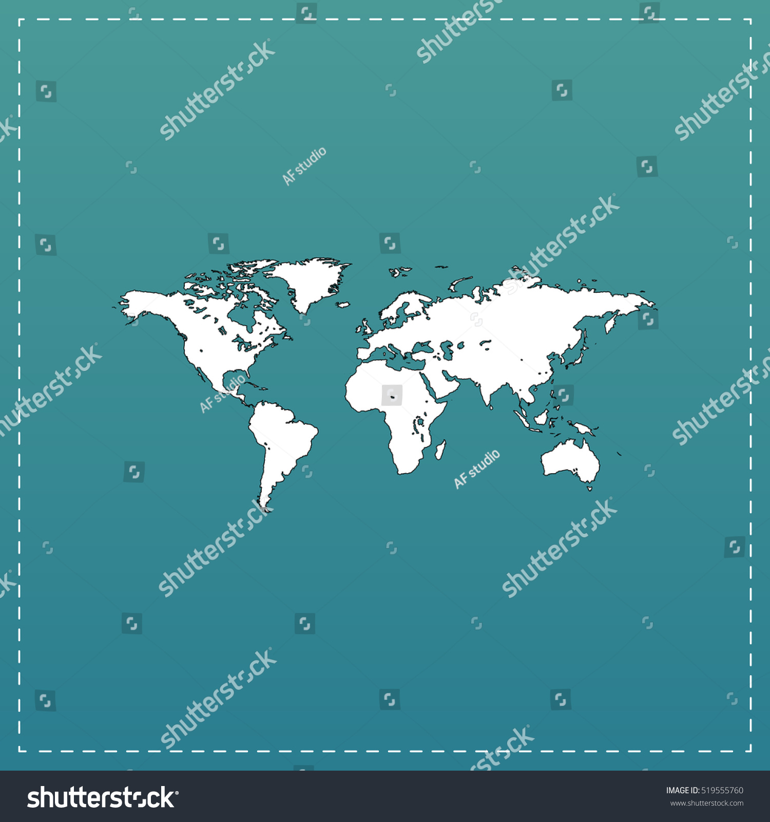 Map world white flat icon black stock vector 519555760 shutterstock map of the world white flat icon with black stroke on blue background gumiabroncs Gallery
