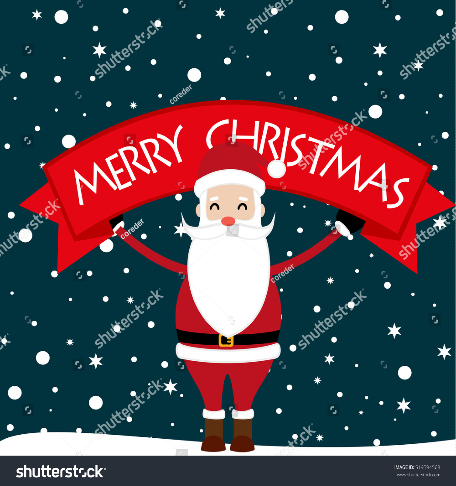 merry christmas and happy new yearhappy new year card2017santa claus
