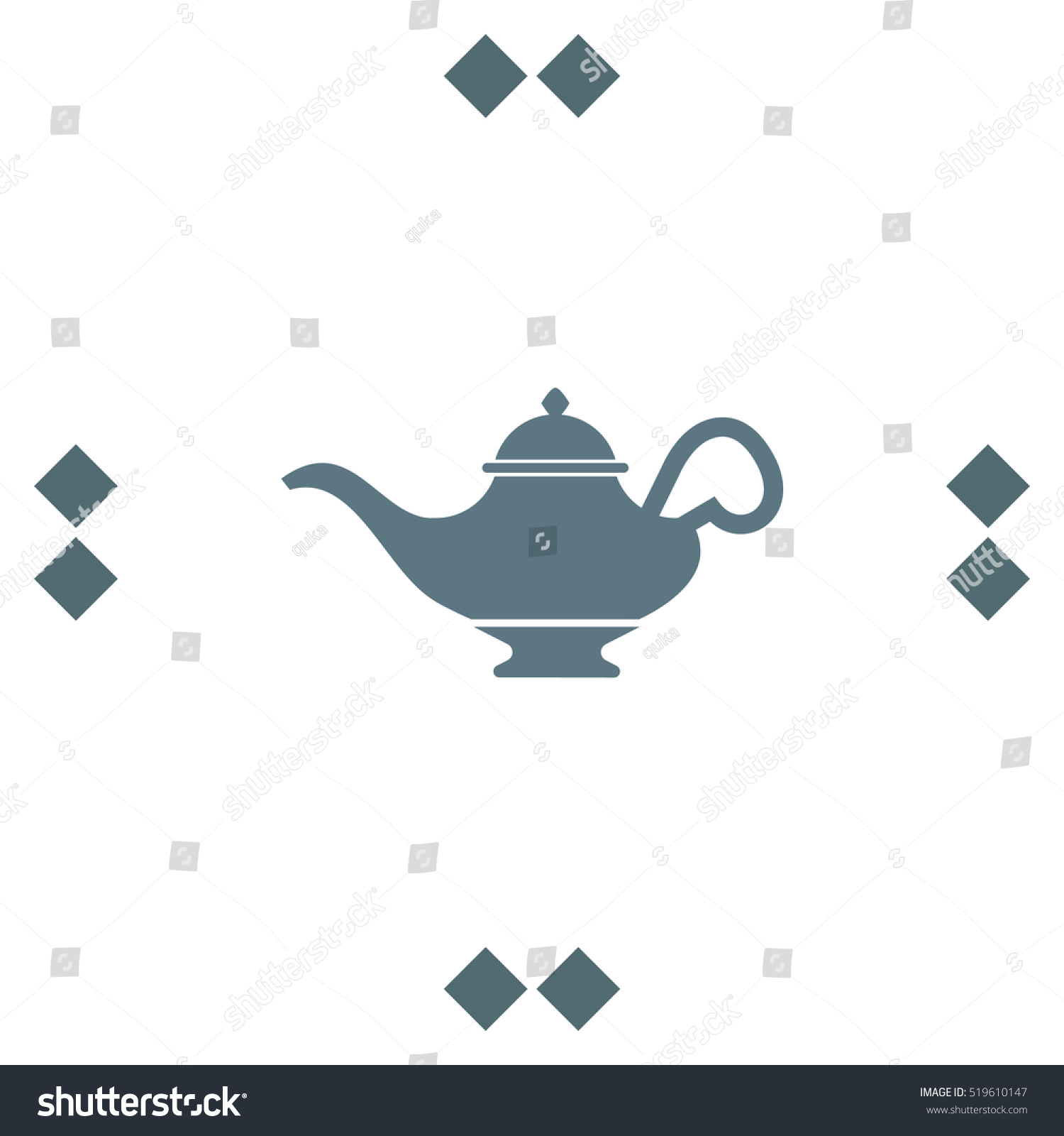 Magic Lamp Vector Icon Genie Sign Stock Vector 519610147 ... for Genie Icon  70ref