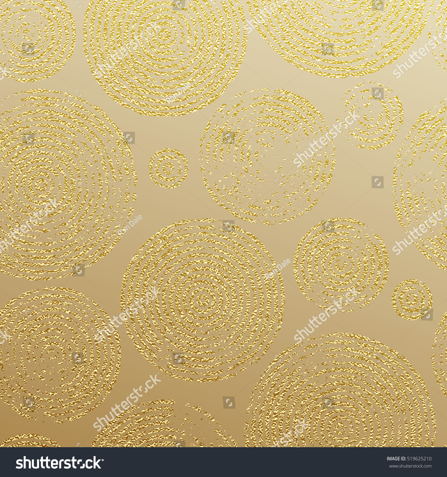 Golden Rings With Gold Glitter Texture Seamless Pattern For Luxury Modern Interior Wallpaper Tile