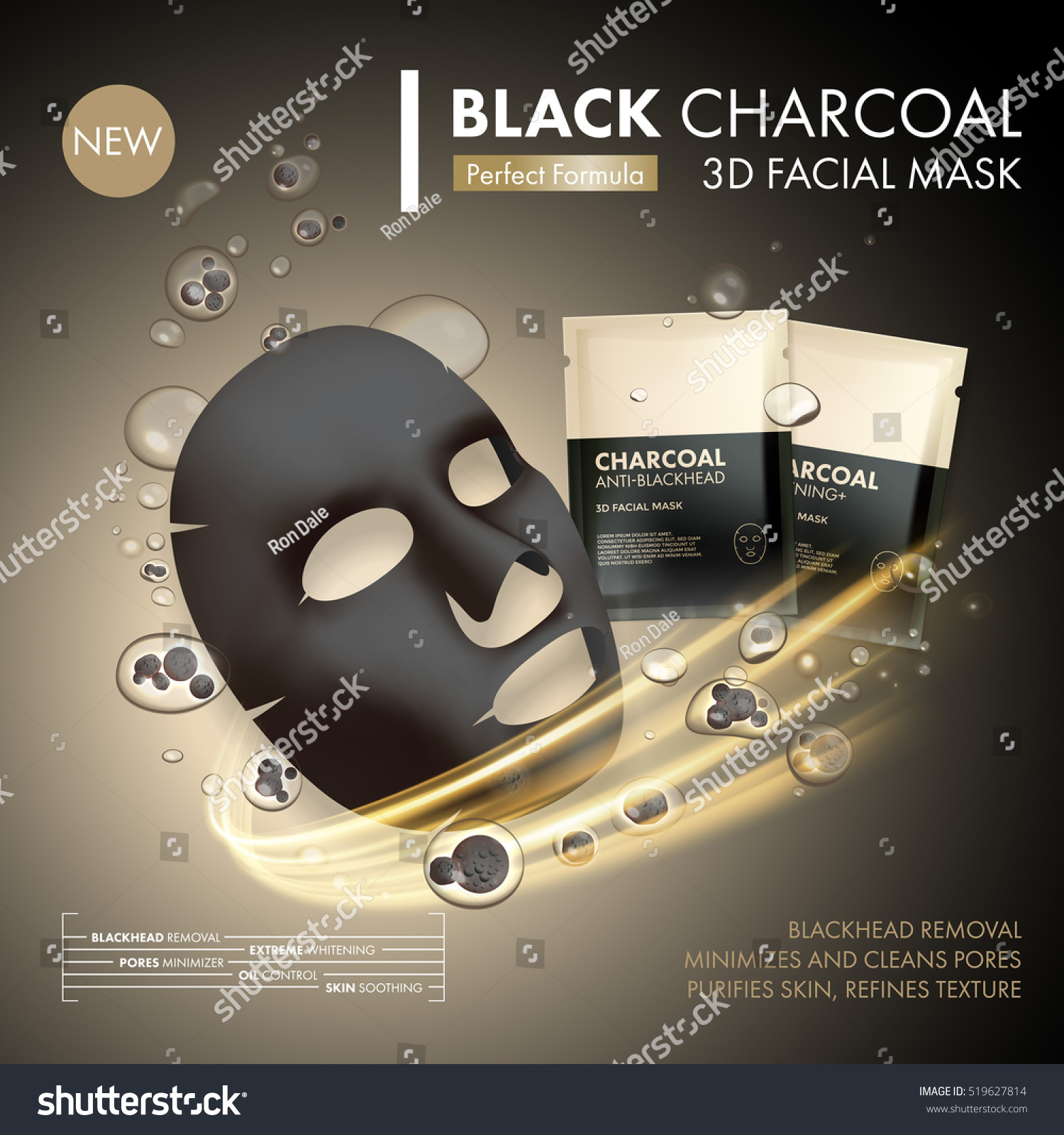 how to make blackhead mask with charcoal and glue