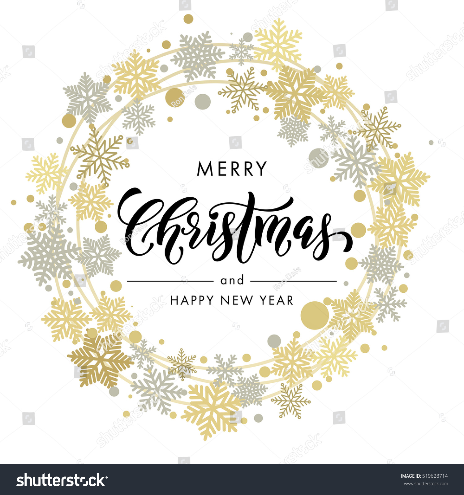 Merry Christmas New Year Wish Greeting Stock Vector (Royalty Free ...