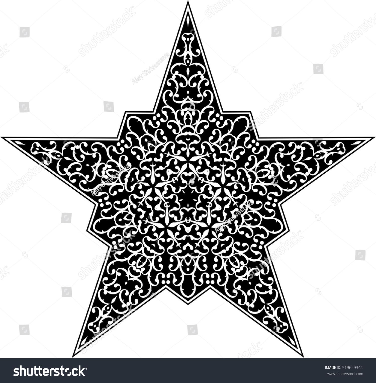 Tattoo Star Symbol Vector Illustration Stock Vector Royalty Free