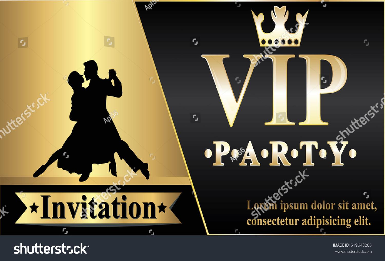 Premium VIP Party Invitations Posters Flyers Stock Photo (Photo ...