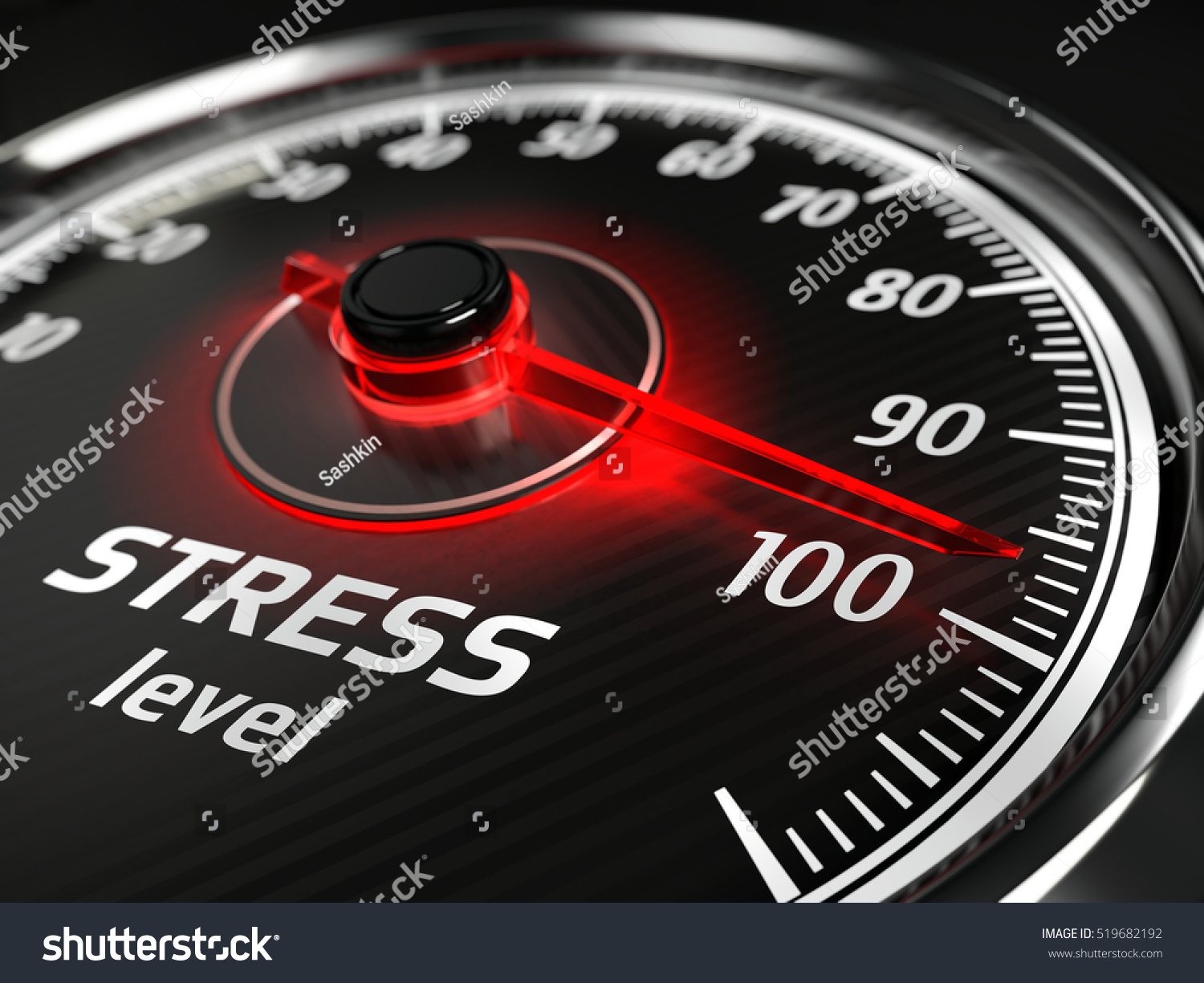 Stress Level Meter : Stress level meter concept d illustration