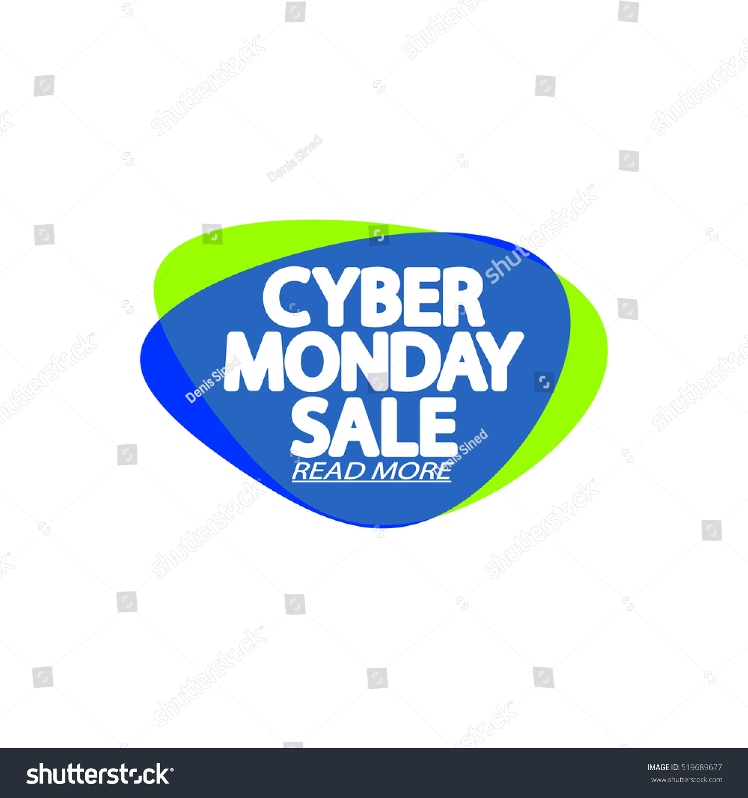 Cyber Monday Sale Speech Bubble Banner Stock Vector (Royalty