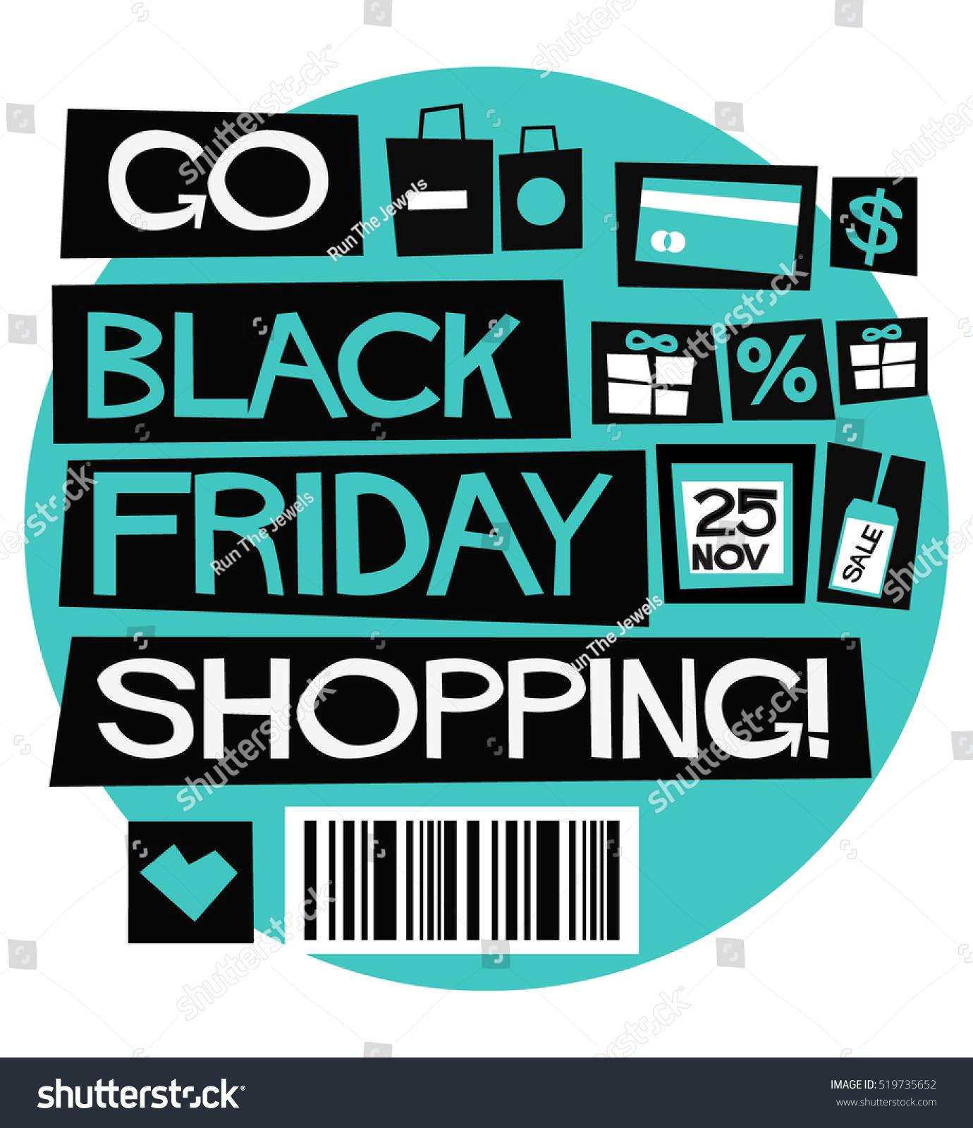 go black friday shopping flat style stock vector 519735652 shutterstock. Black Bedroom Furniture Sets. Home Design Ideas