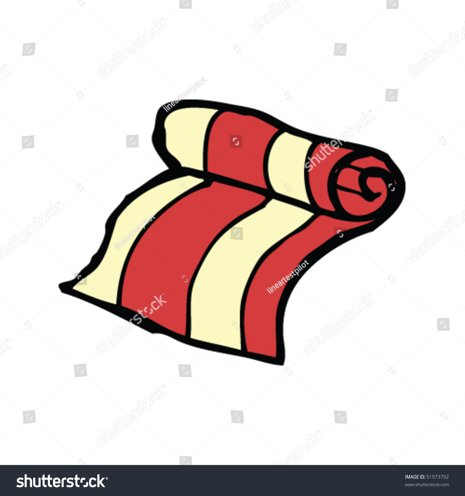 Clip Art Beach Blanket: Quirky Drawing Beach Towel Stock Vector 51973792