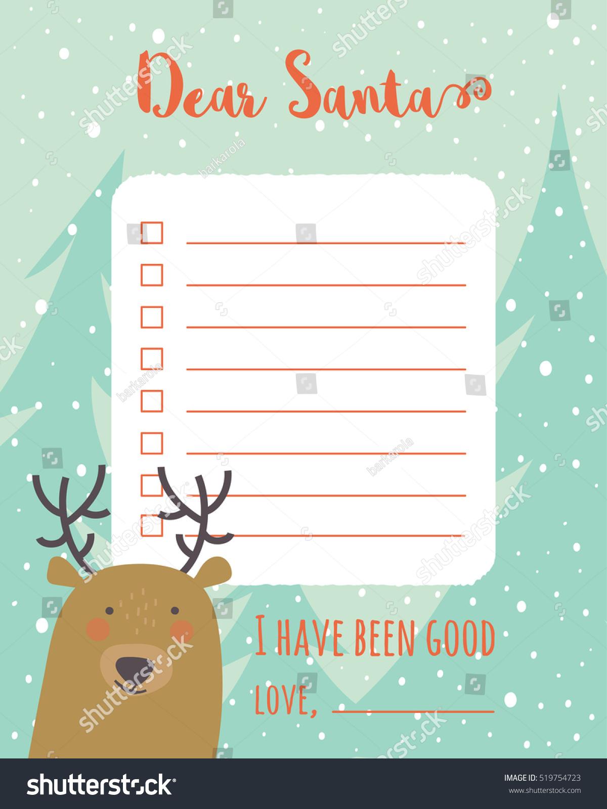 Cartoon Christmas Wish List Christmas Trees Stock Photo (Photo ...