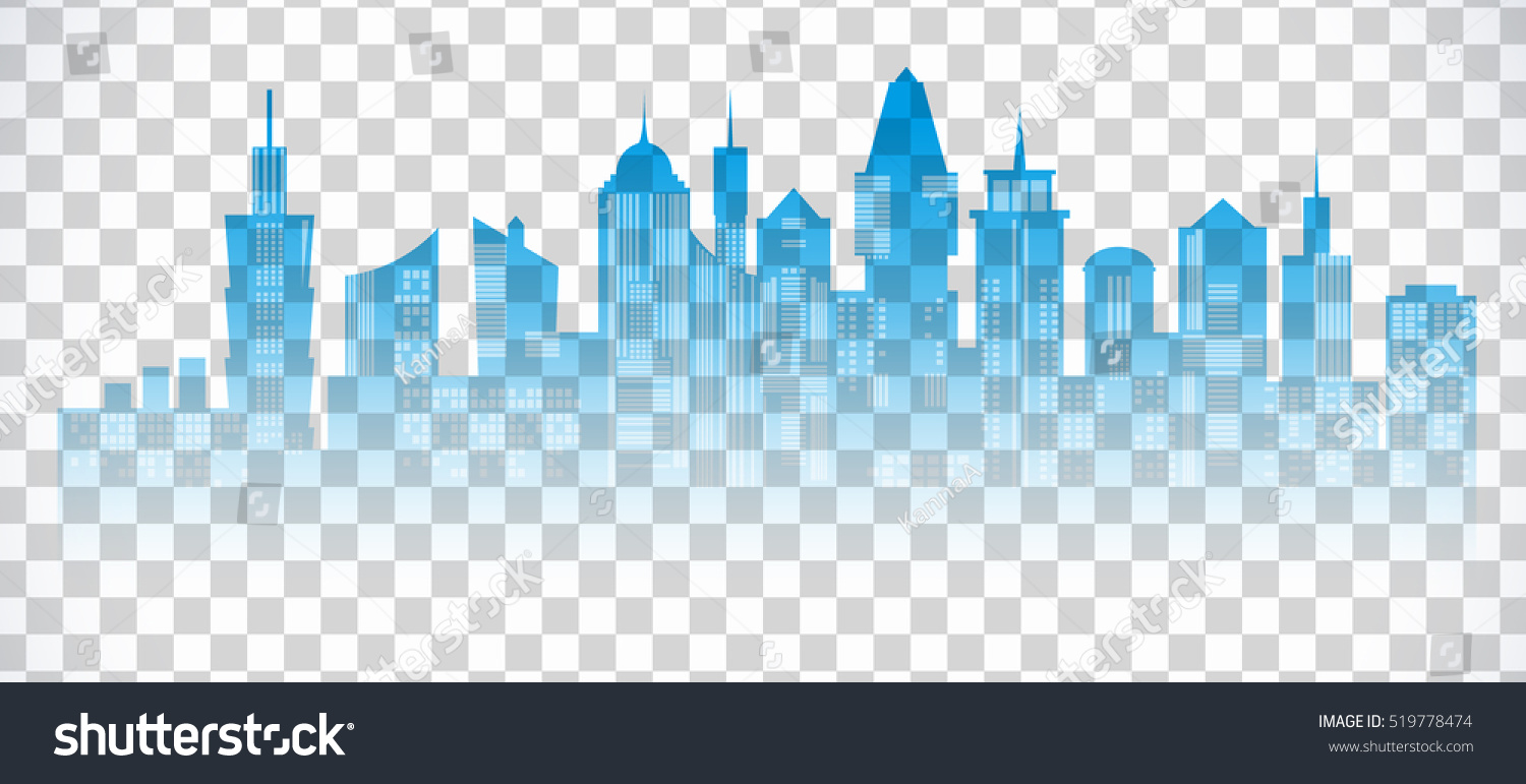cityscape blue icon on transparent background stock vector royalty