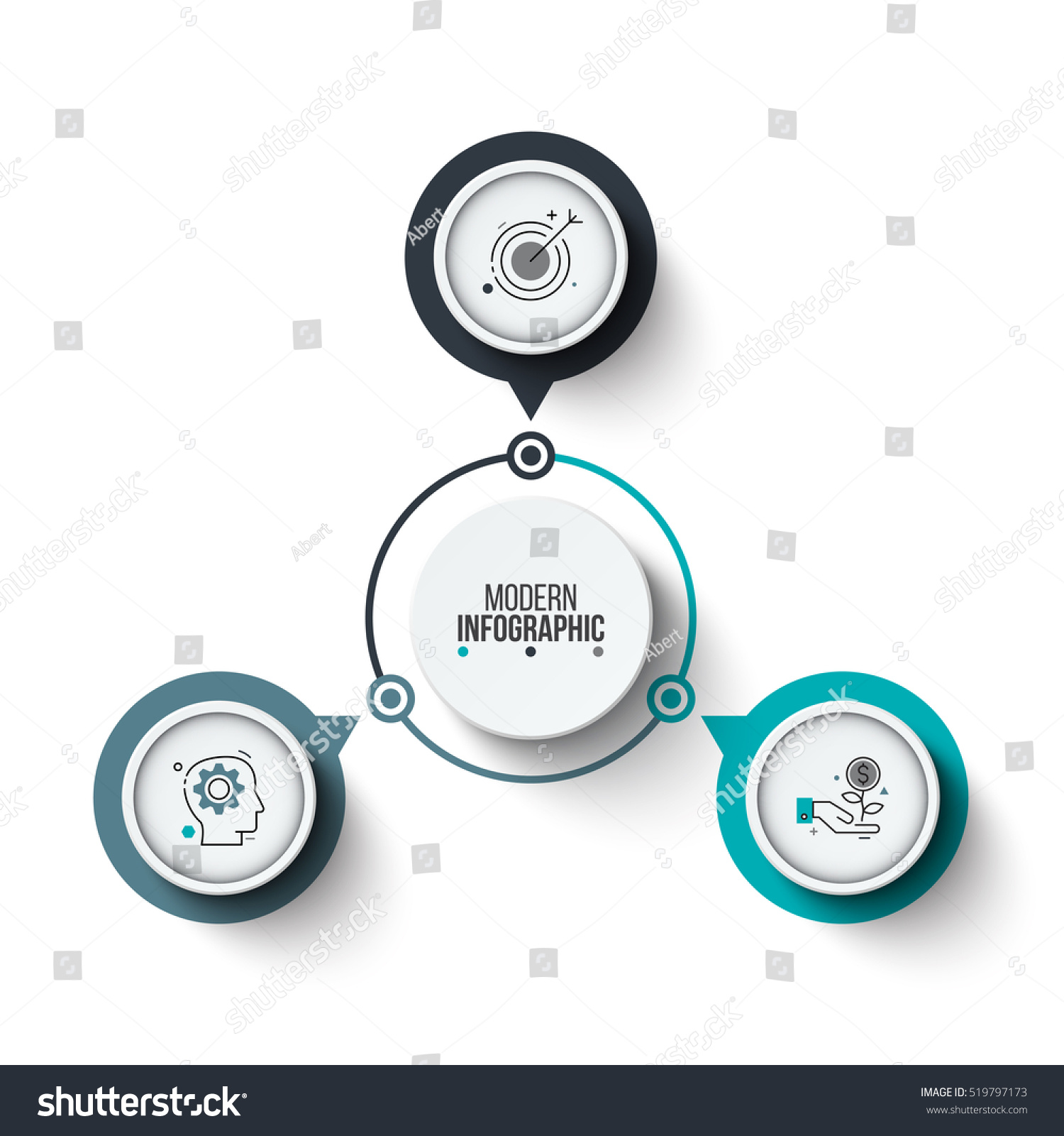 vector circle infographic template cycle diagram stock vector 519797173 shutterstock. Black Bedroom Furniture Sets. Home Design Ideas