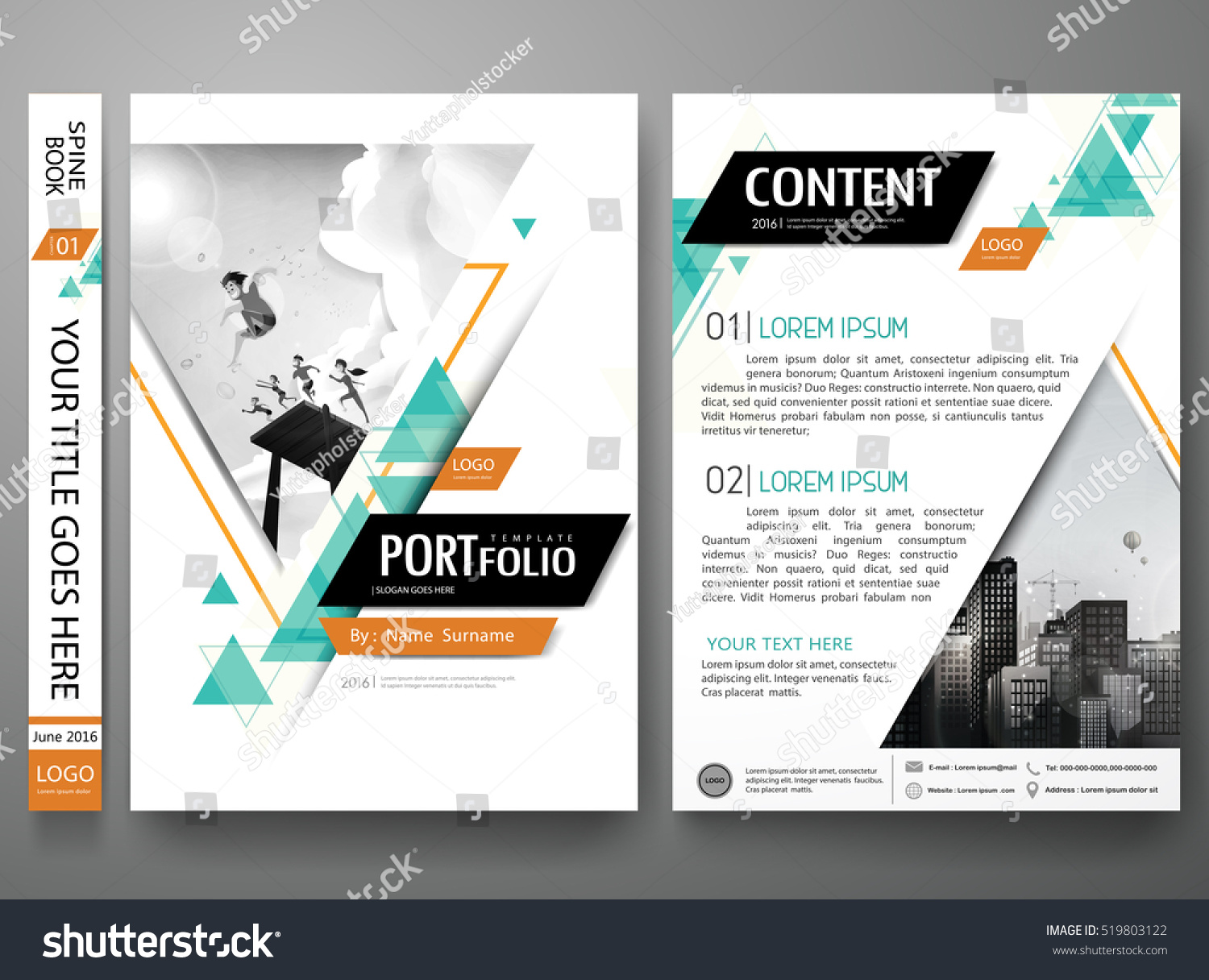 portfolio design template vector minimal brochure stock vector 519803122 shutterstock. Black Bedroom Furniture Sets. Home Design Ideas