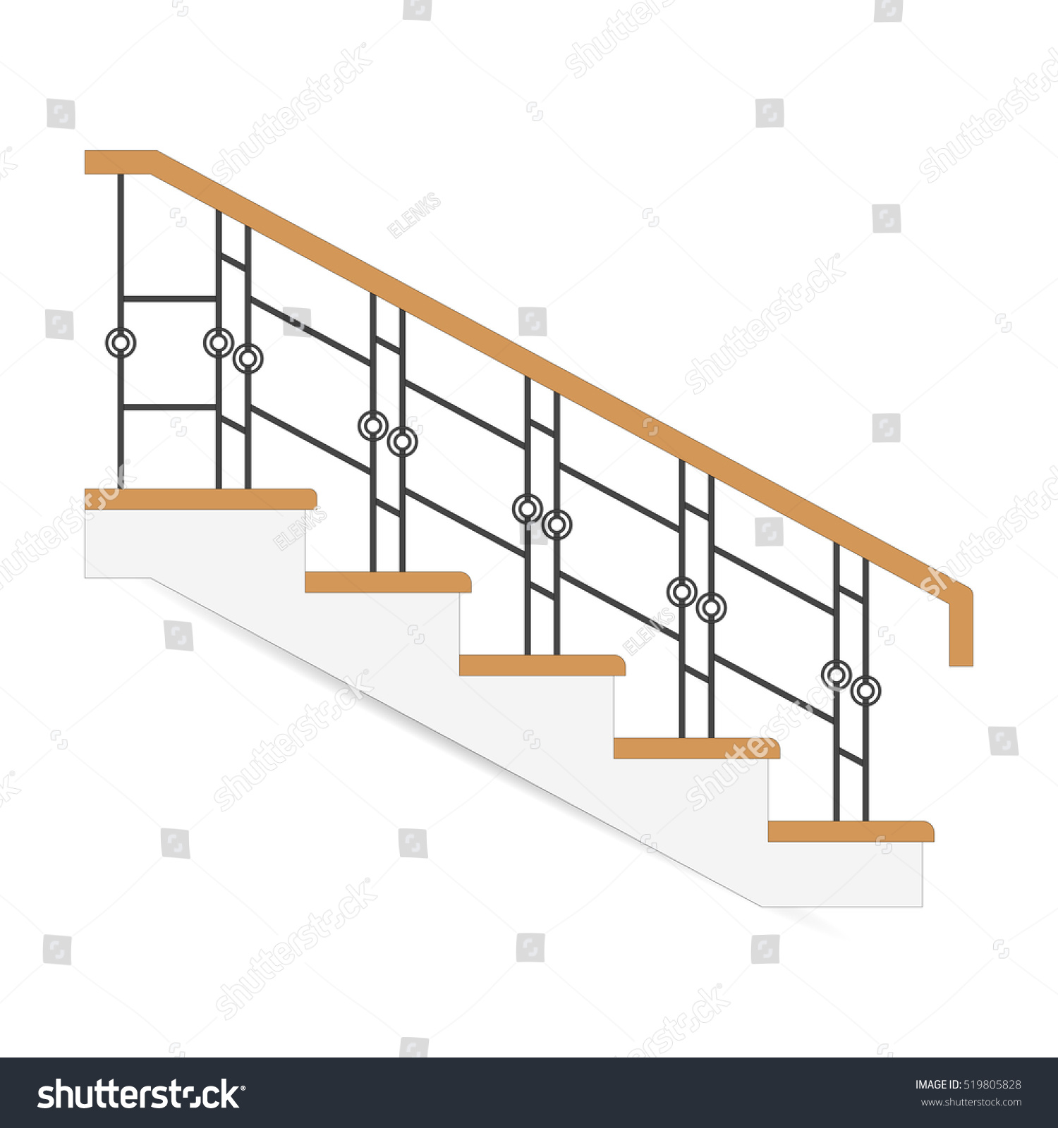 Fence Ladder: Sketch Stair Icon Sample Ladder Forged Stock Vector