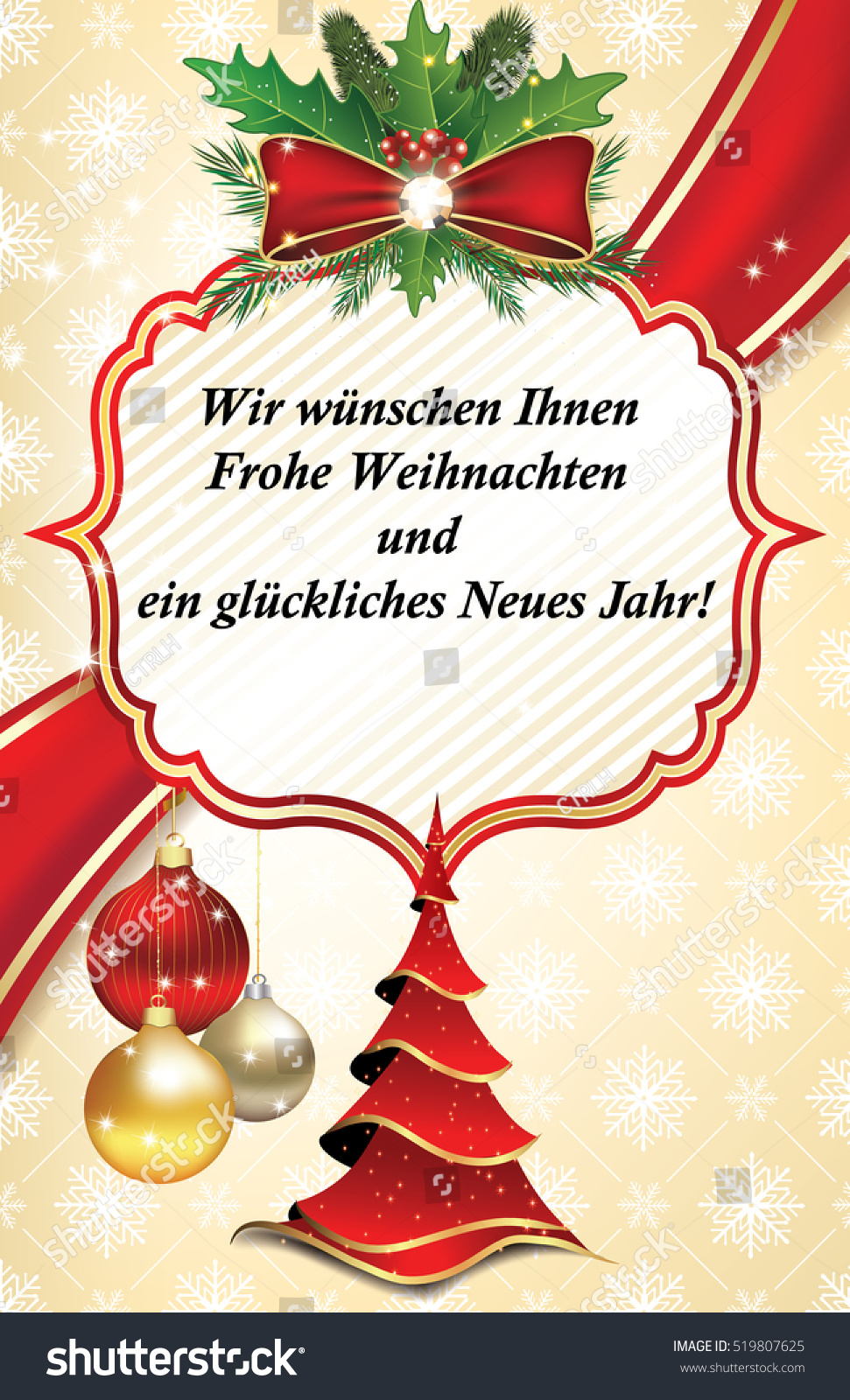 Business Greeting Card Year Text German Stock Illustration 519807625