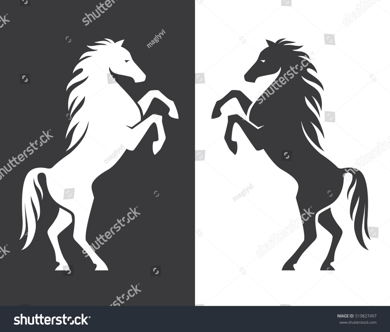Rearing Horse Monochro...