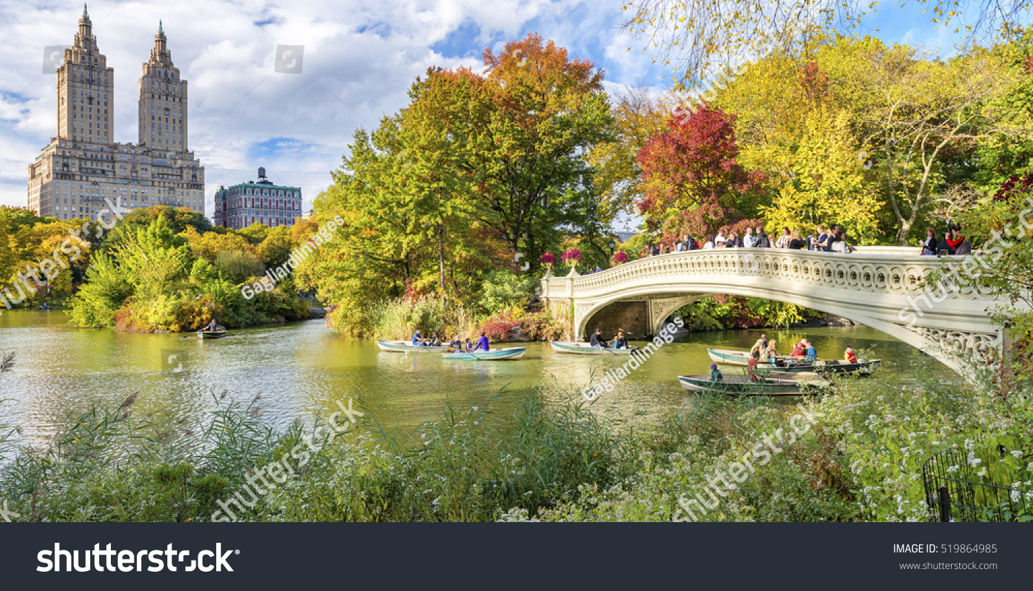 Beautiful foliage colors of New York Central Park. #519864985 - 123PhotoFree.com