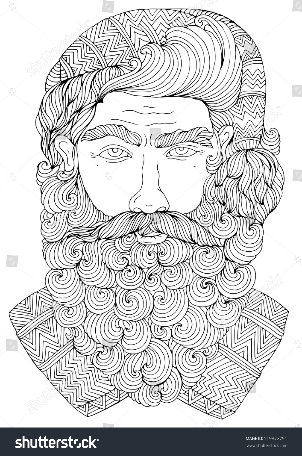 vector hand drawn christmas portrait hipster stock vector