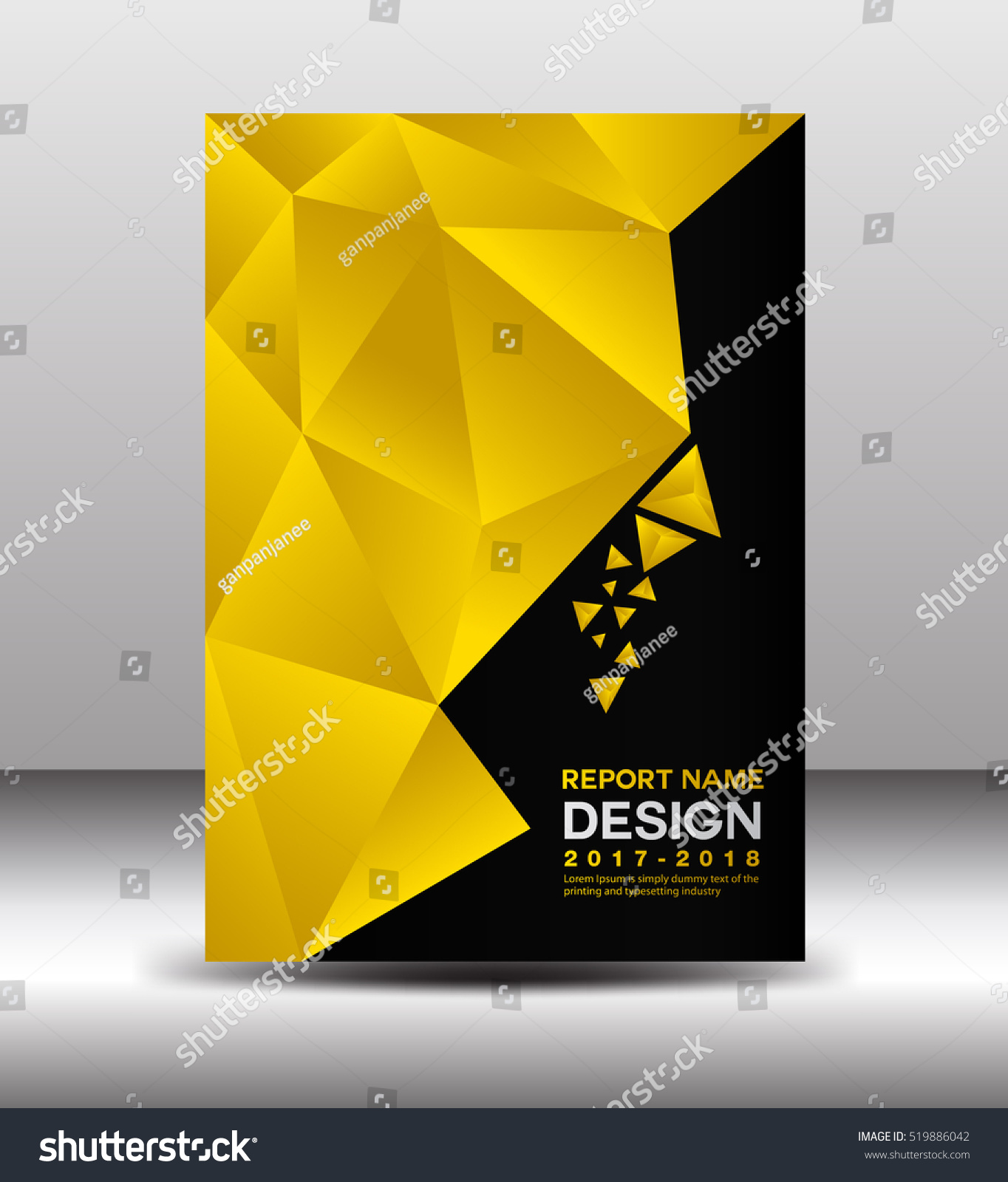 Business Book Cover Vector : Cover annual report template vector business stock