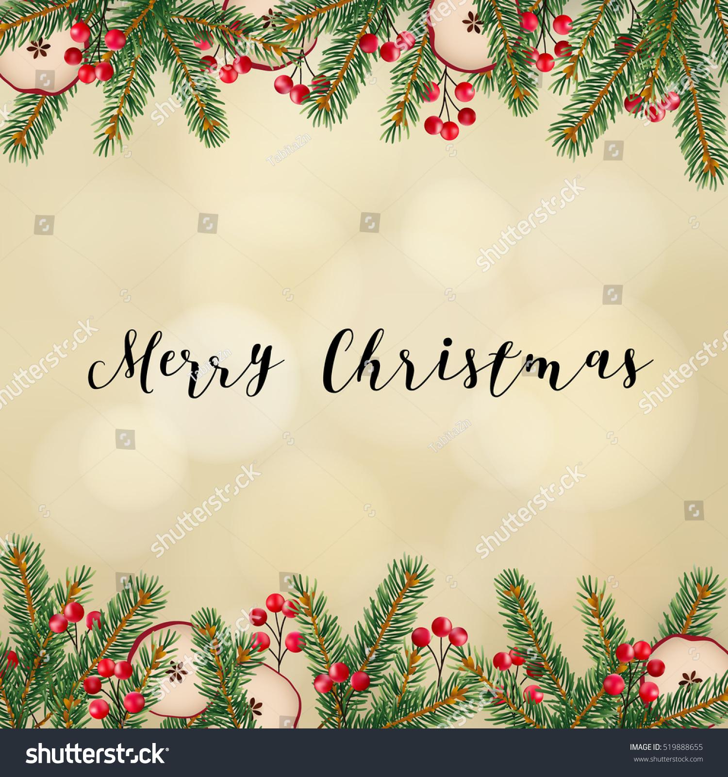 Decorative Traditional Merry Christmas Frame Border Stock Vector ...