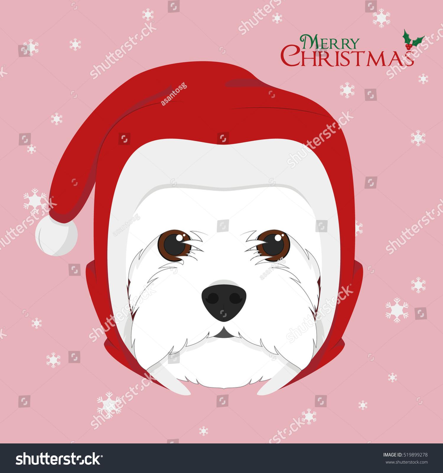 Vector Illustration Portrait of Shih Tzu Puppy. Dog Cards | EZ Canvas
