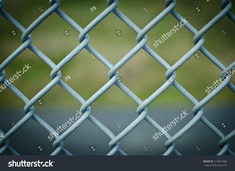 Closeup Diamond Mesh Fence Stock Photo (Royalty Free) 519947980 ...