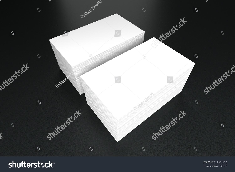 Business Cards Blank Mockup Template 3d Stock Illustration 519959176 ...