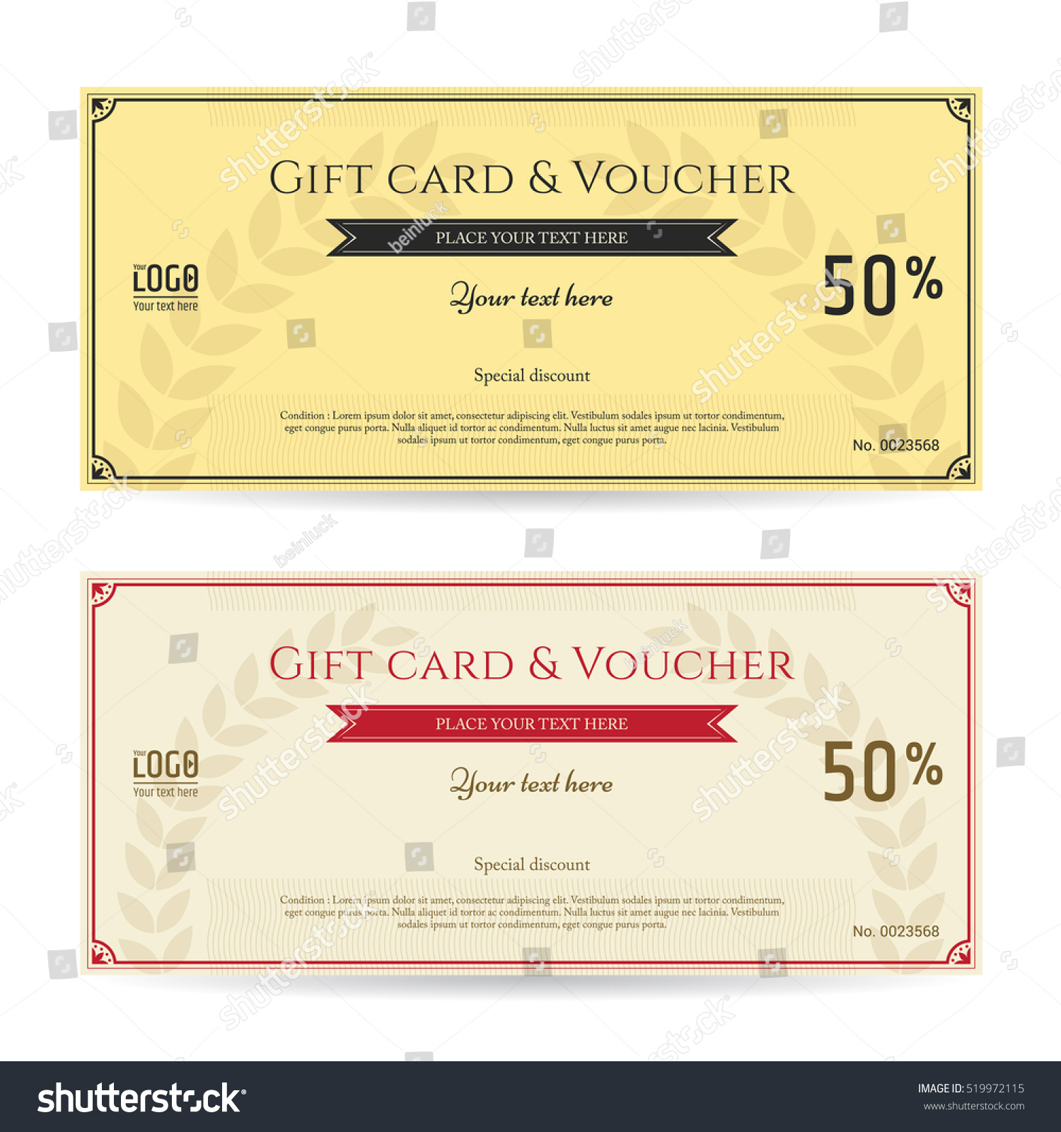 gift card voucher template