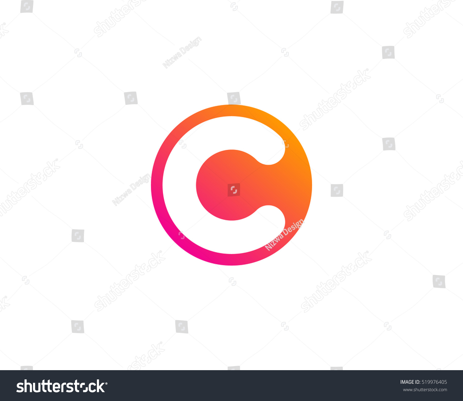 Initial letter c circle negative space stock vector 519976405 initial letter c circle negative space logo design template biocorpaavc Images