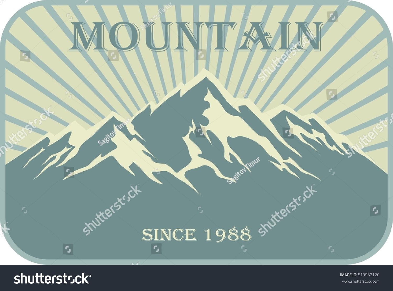 Emblem mountain climbing symbol outdoor adventure stock vector emblem of mountain climbing symbol of outdoor adventure hiking badges label travel biocorpaavc Choice Image