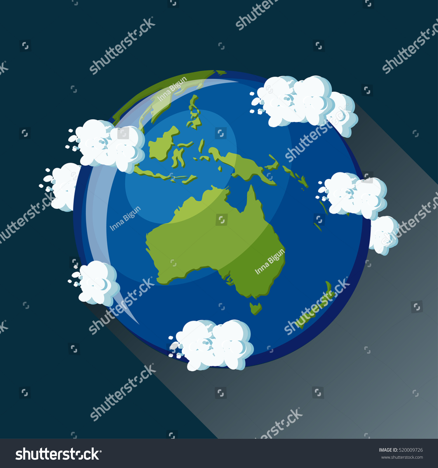 Australia map on planet earth view vectores en stock 520009726 australia map on planet earth view from space australia globe icon planet earth gumiabroncs Image collections