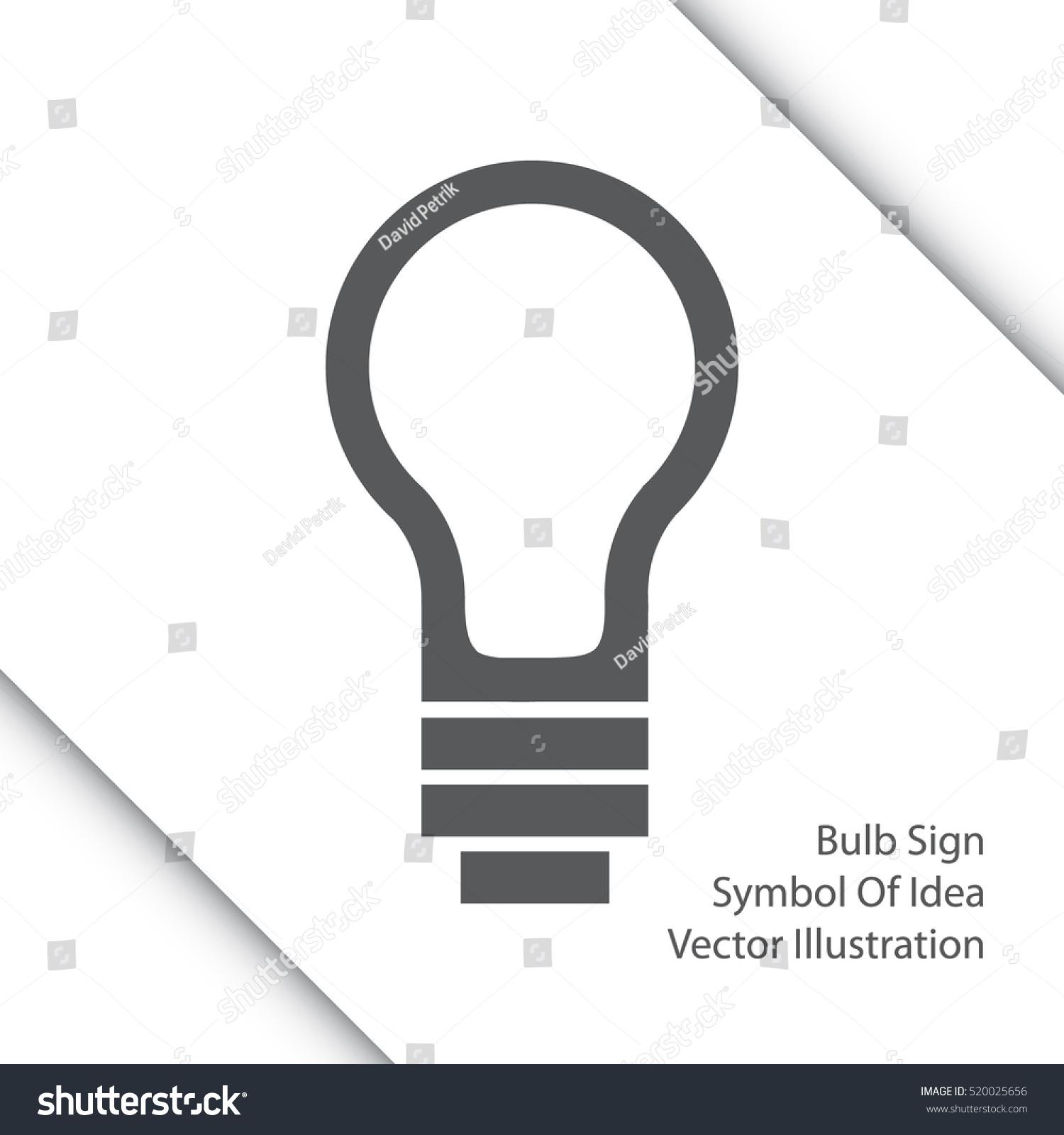 Light bulb line icon sign thinking stock vector 520025656 sign of thinking new idea vector illustration biocorpaavc