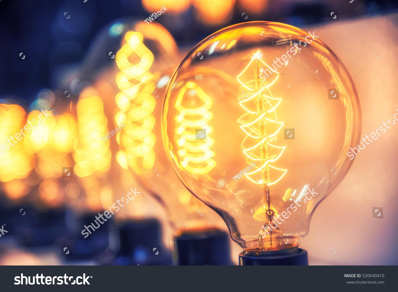 Beautiful Retro Luxury Light Bulb Decor Stock Photo (Royalty Free ...