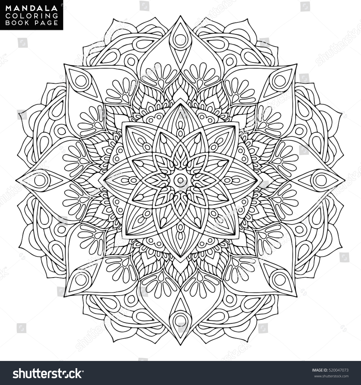 Co coloring book page template - Coloring Book Wedding Template Mandala
