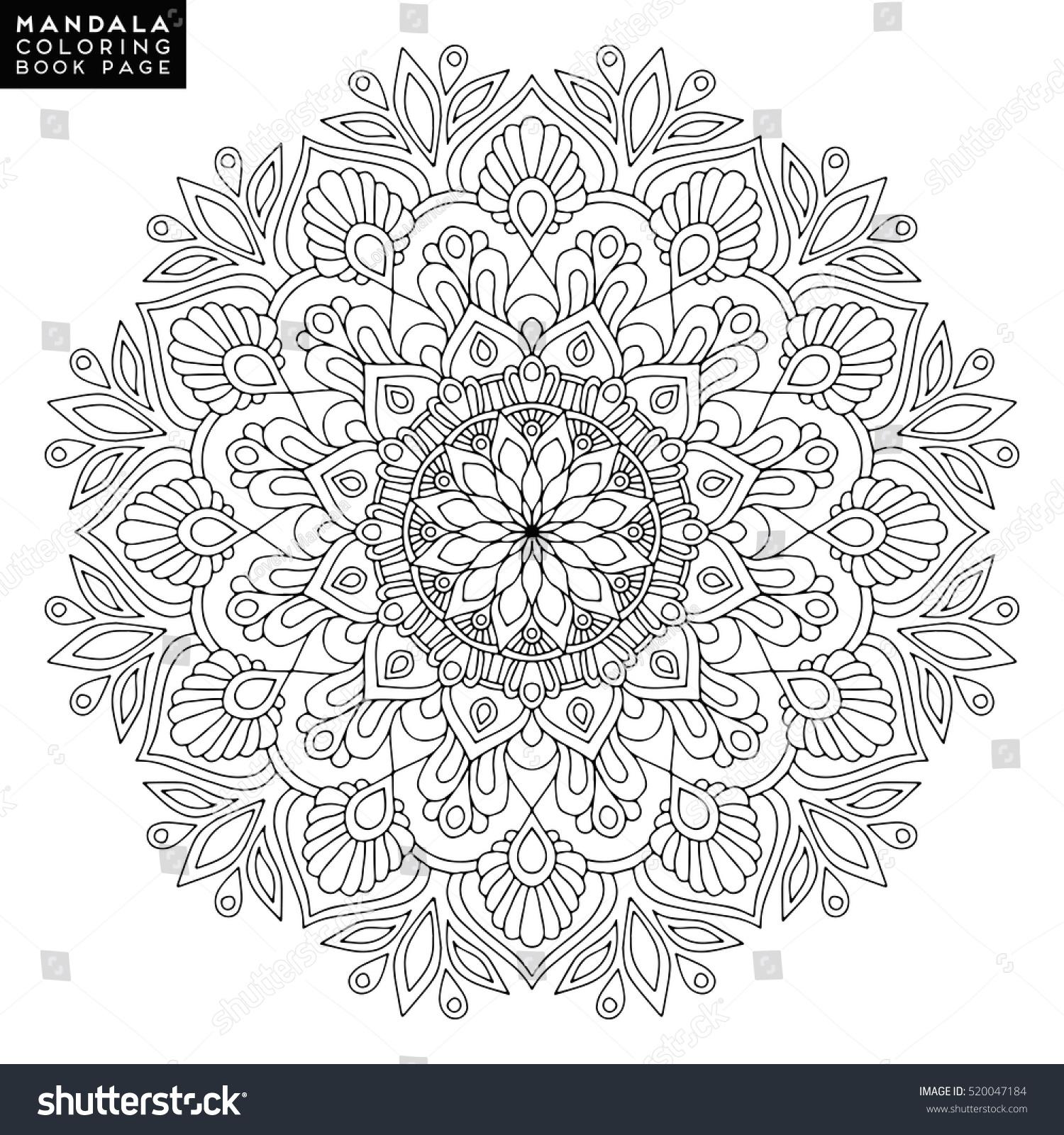 mystical mandala coloring pages - royalty free flower mandala vintage decorative